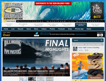Van Triple Crown of surfing Billabong Pipe Masters